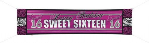 Sweet 16th Banner 40x180cm